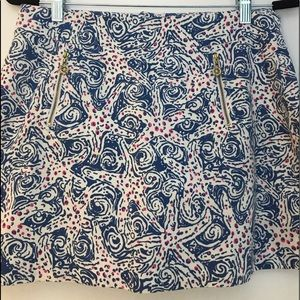 Lilly Pulitzer Patterned MiniSkirt w/ Shorts Sz 6